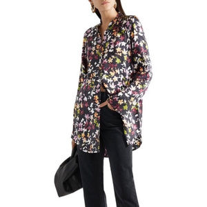 Equipment Patrice Eclipse Floral Leaf Silk Shirt